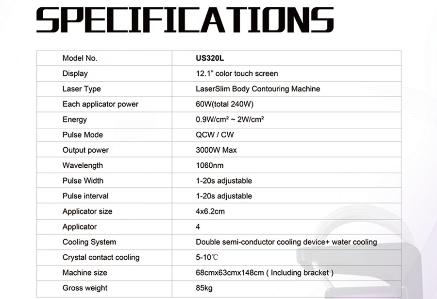 specification sculp sure